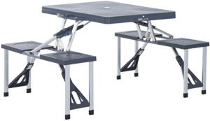Outsunny Folding Picnic Table and Chairs